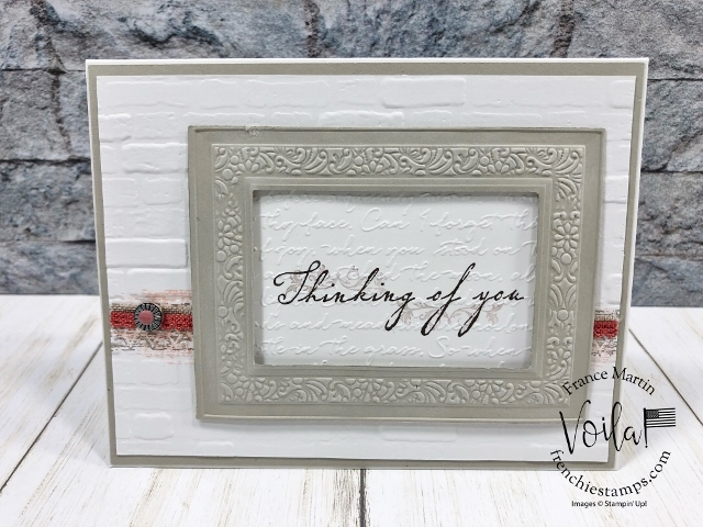 Showcase of the Woven Heirlooms  bundles. Stitched Nested Labels All product by Stampin'Up! available at frenchiestamps.com #stampinup #stamping #frenchiestamps #cardmaking #papercrafts #handmadecards