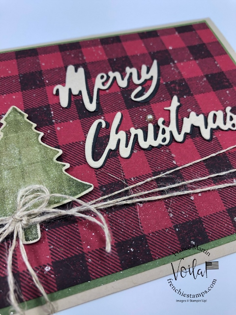 Great combination with Perfectly Plaid and Buffalo Check for Christmas cards. All supplies are from Stampin'Up! available at frenchiestamps.com #stampinup #stamping #frenchiestamps #cardmaking #papercrafts #handmadecards