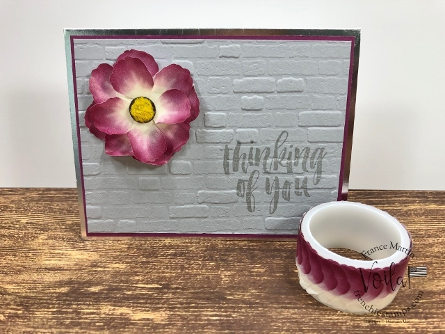Pressed Petal Washi Tape Flower