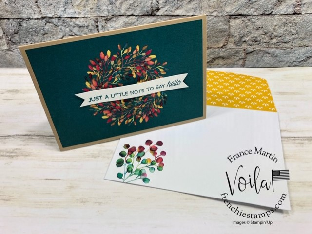 Gift of Fall Note Cards. Stamp Set A Little Lace. Available while supplies last.
