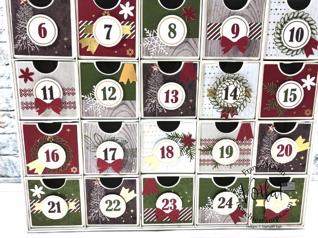 Tip on how to assemble the Christmas Countdown Project kit by Stampin'Up!.