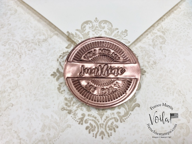 All in one envelope and card with a Faux Wax Seal