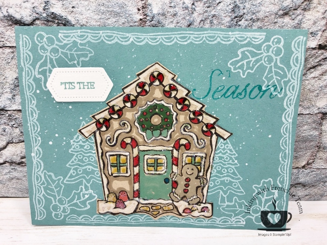 Yummy Christmas card. Stampin'Up! holiday product.