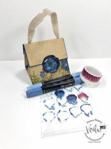One Sheet Pressed Petals specialty Specialty designer paper purse.