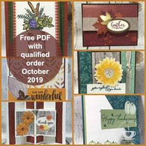 Frenchie Team customer appreciation for the month of October 2019. This month is all about Fancy Fold Fall Cards.