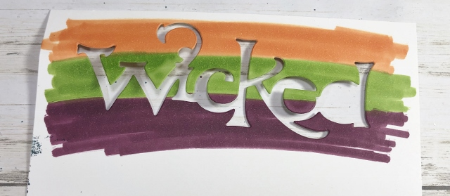 How to have 3 tone colors on the Wicked Die Cut.