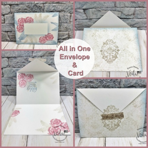 All in one envelope and card. Stamp set is Beautiful Friendship and Tasteful Textures.