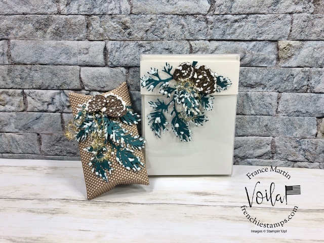 Blue Spruce Pillow Gift Boxes and Card Boxes