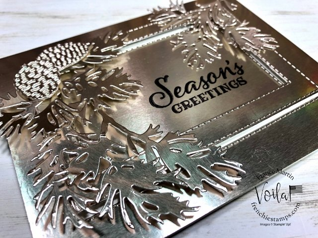 Champagne Foil Frame with Peaceful Boughs