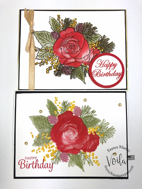 Christmas Rose Stamp Set. How to stamp the bold image without the outline.