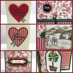 Toile Tiding Gift Wrap not just for Christmas