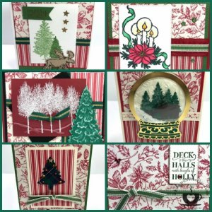 Cards made with Toile Tidings Gift Wrap Paper
