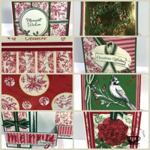 Toile Tidings Gift Wrap Paper to make cards