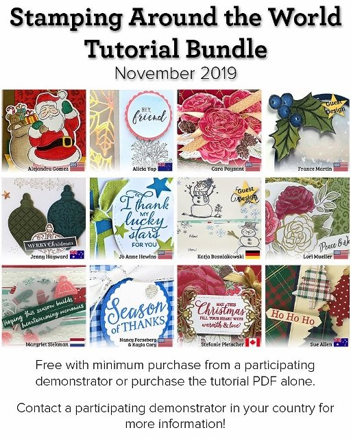 Stamping Around the World Tutorial Bundle.