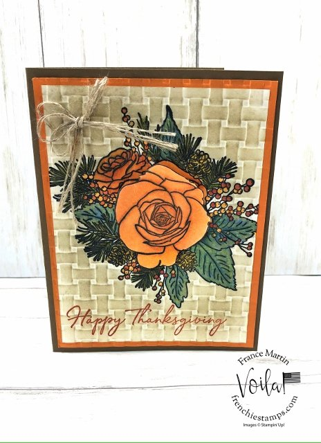 Christmas Rose for Thanksgiving card