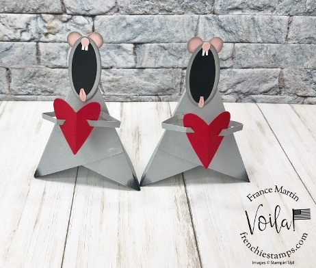 Little Valentine Mouse Tee Pee Card