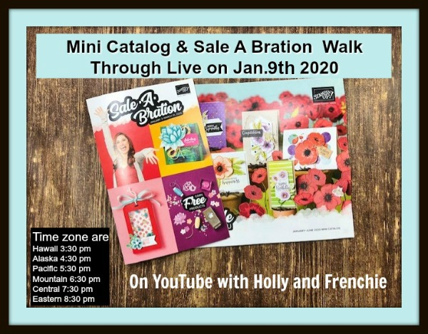 New Mini Stampin'Up! catalog and sale a Bration.