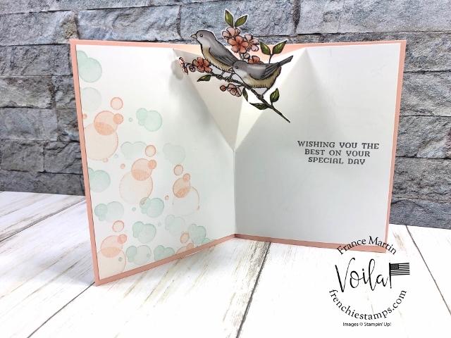 Pop Up Inside Card with Bird Ballad