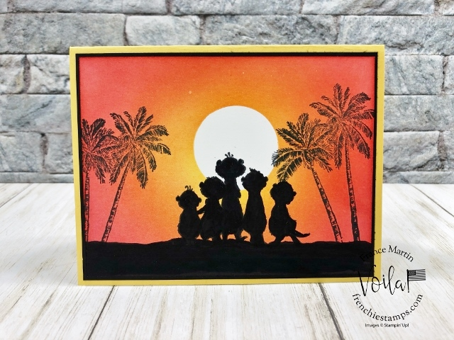 Sunset with the Gang's All Meer stamp set in a silhouette.