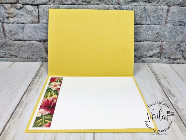 Simple anniversary card with the Tropical Oasis Designer paper.
