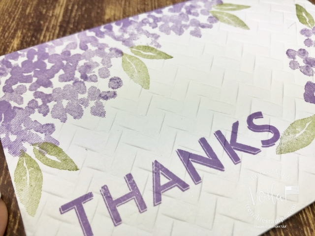 Quick and simple card with Beautiful Friendship. Emboss with Coastal Weave 3D embossing Folder