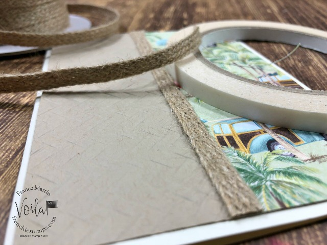 Tip to use the Braided Burlap Trim on cards.
