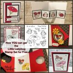 Little Ladybug stamp set. You can qualified to receive this stamp set for free.