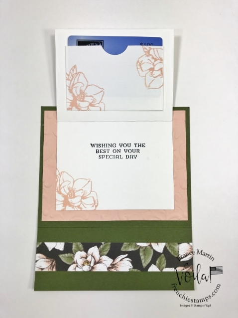 Magnolia Lane Small Memories and More Card for a Double flip Full Size card