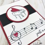 How to set the notes from Music from the Heart stamp set onto the Stamparatus to stamp many notes all at once.