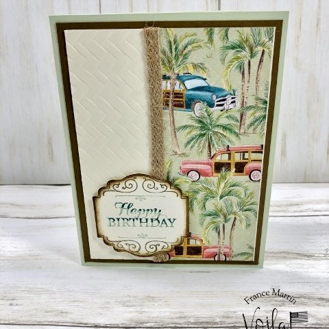 Simple cards with Tropical Oasis and Emboss
