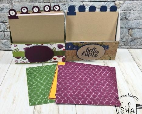 6 x 6 Designer Paper holder with dividers