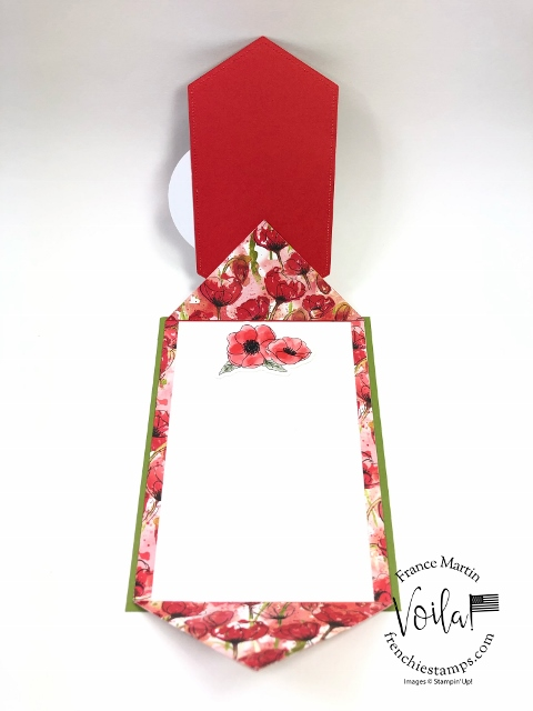 Double Flip Fold with Peaceful Poppies.