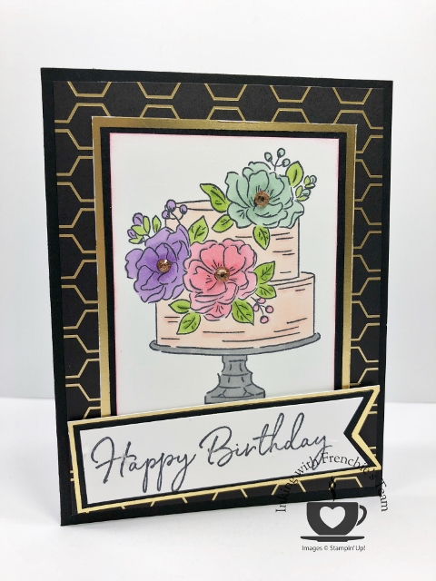 Card showcasing the Golden Honey Designer Series Paper