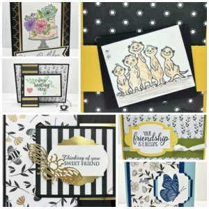 Showcase of the Golden Honey Designer Paper with Frenchie's Team