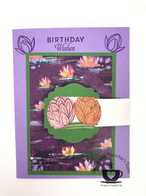 Card showcasing the Lily Impression Designer Series Paper with Frenchie's Team