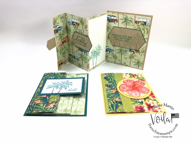 Accordion Triple Fold with Tropical Oasis Paper