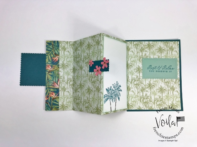 How to make a accordion fold. Triple fold or accordion fold with the Tropical Oasis designer paper.