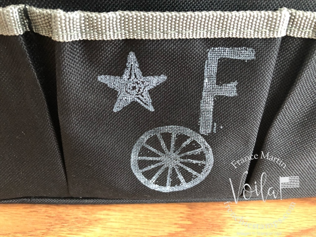 How to stamp on fabric with Stampin'Up! stamps and white craft ink. Simple way to personalize or decorate fabric items