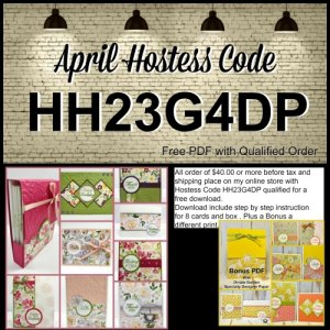 Frenchie's Customer Appreciation for April 2020. A One Sheet wonder to make 8 card plus a box to hold cards. Designer Paper is the Bess Dresses and Bonus with Ornate Garden.