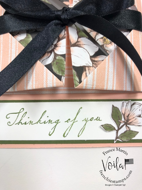 Explosion Card with the Magnolia Lane Designer paper. This is a WOW Fancy Fold.