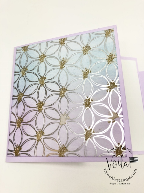 How to add colors to the Flowering Foils Designer Paper.