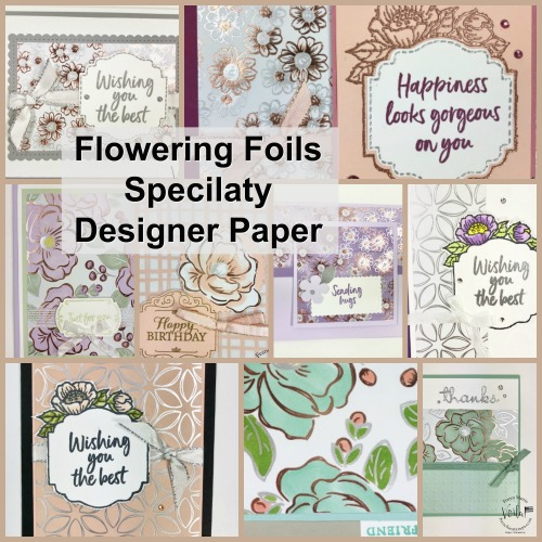 Showcase of Flowing Foils Specialty Designer Paper by Stampin'Up!