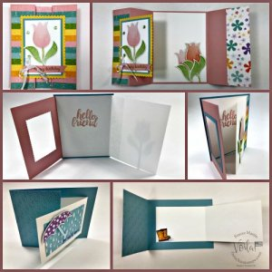 3 Fun Fold Cards with the Pleased As Punch Designer Paper