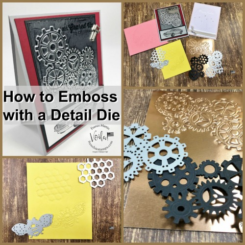 How to emboss with detail dies and a silicone craft sheet.