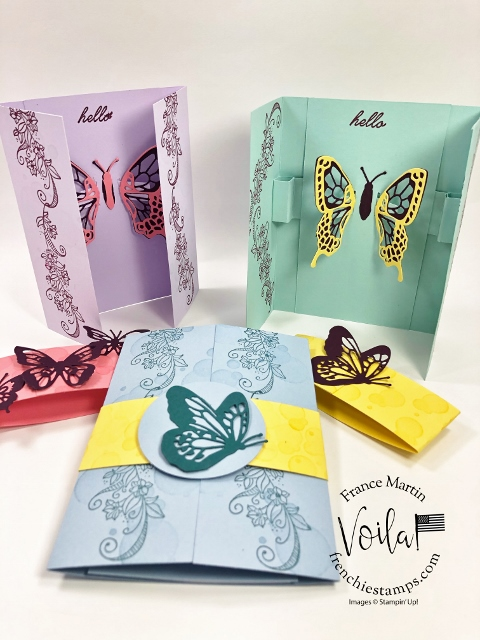Gate fold card Interactive Fluttering Butterfly when you open it.