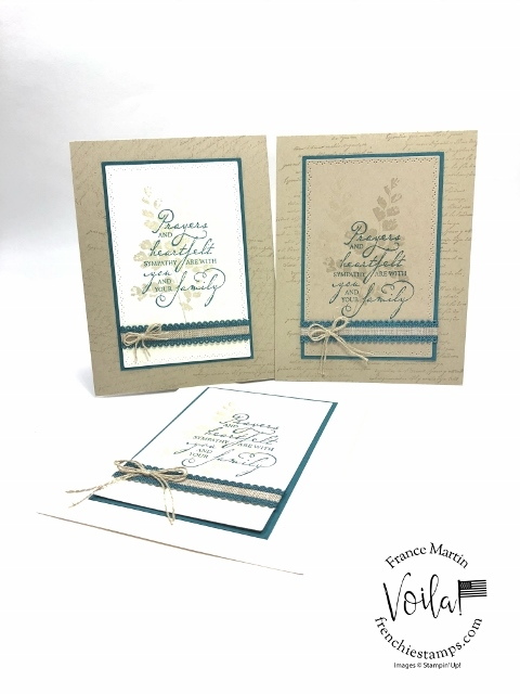 Positive Thoughts, Very Versailles. Woven Heirlooms and the Nature's Thoughts dies A great combination for all sympathy cards