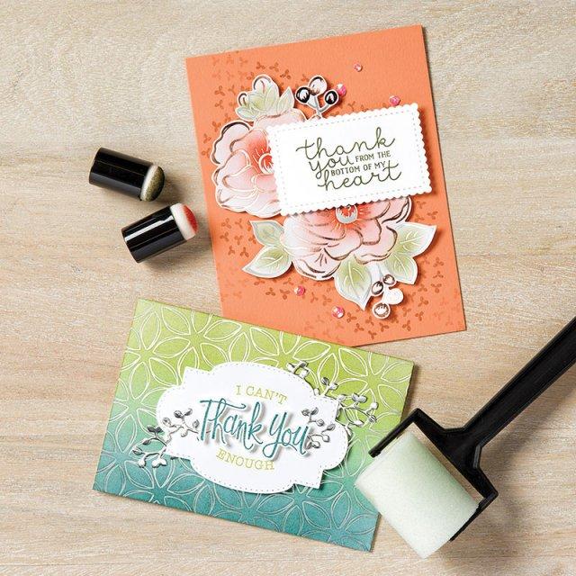 2nd release of products for Sale a Bration rewards. Flowering Foils Designer paper
