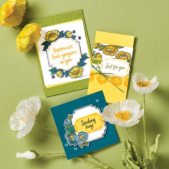 2nd release of products for Sale a Bration rewards. Stamp sets Tags In Bloom