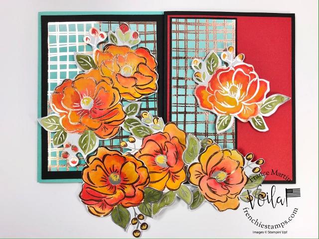 Watercolor the Flowering Foil designer paper