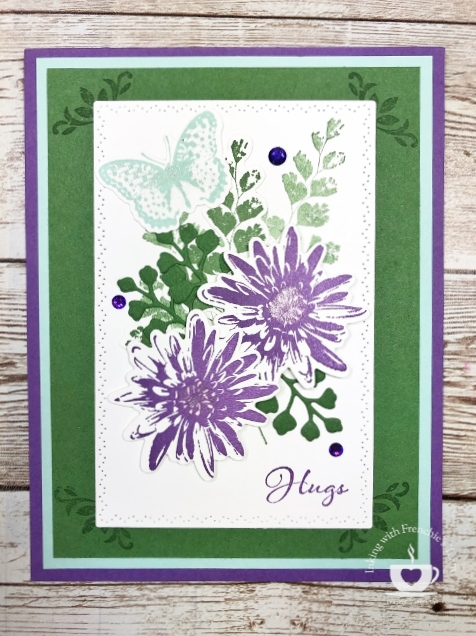 Card by Frenchie's Team following combo of the Color Coach available at frenchiestamps.com